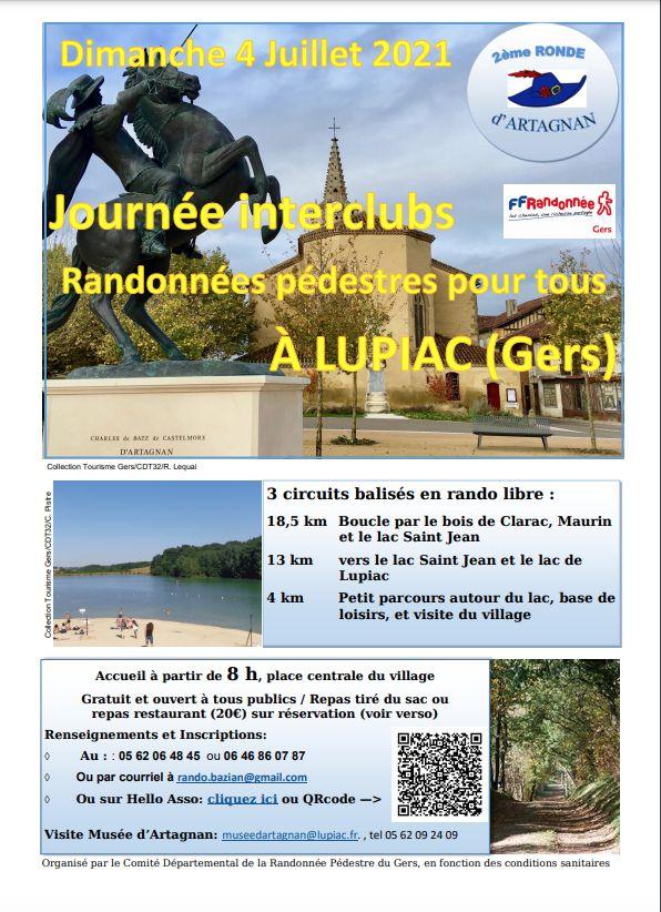 JOURNÉE INTERCLUBS RANDONNÉES PÉDESTRES À LUPIAC