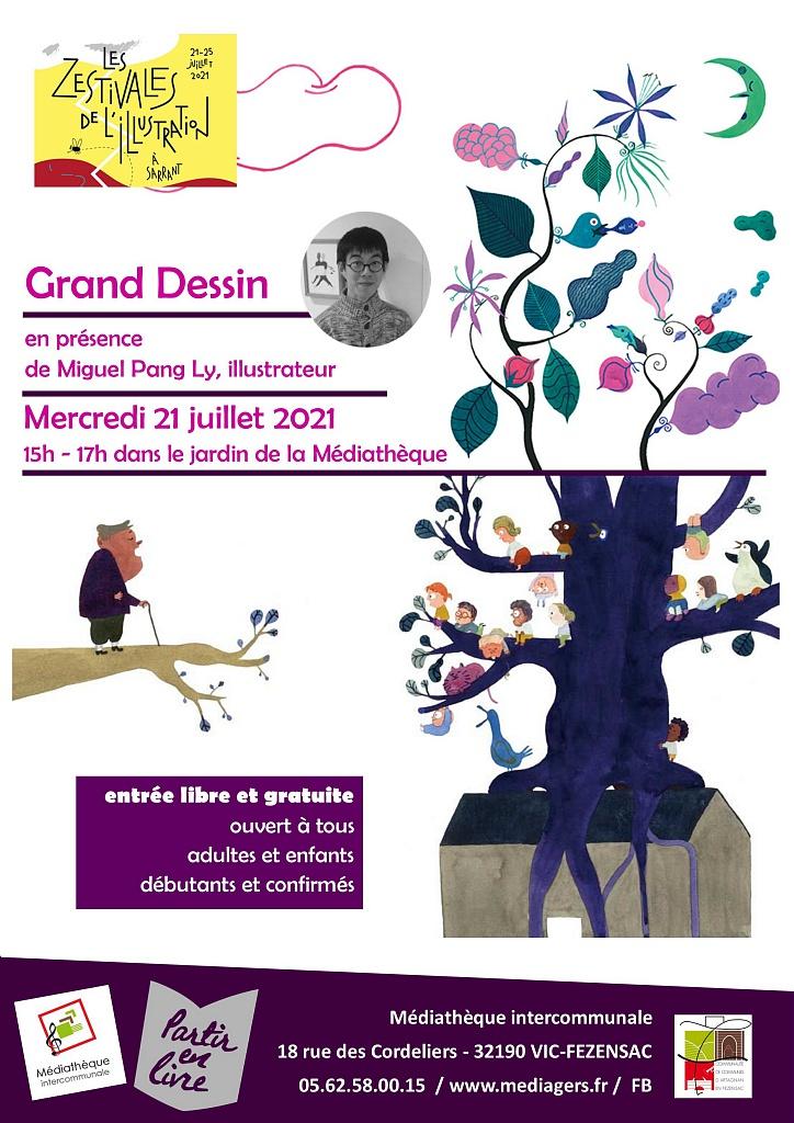 LE GRAND DESSIN AVEC MIGUEL PANG LY